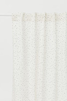 H&M Patterned Curtain Panel - White
