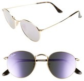 Ray-Ban 50mm Round Sunglasses