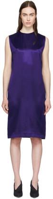 Haider Ackermann Blue Sleeveless Tunic Dress
