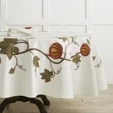 """Williams-Sonoma Williams Sonoma Pumpkin Embroidery Tablecloth, 90"""" Round"""