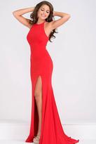 Jovani High Slit Halter Neck Long Prom Dress JVN43004