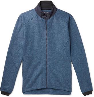 Sease Maestrale Shell-Trimmed Melange Wool-Felt Jacket