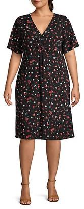 Estelle Plus Falling Petal A-Line Dress