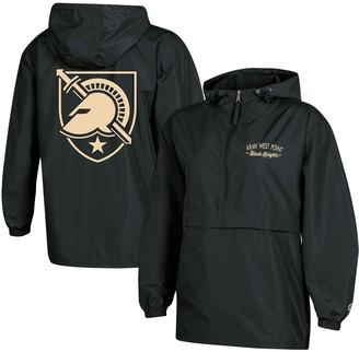 Champion Women's Black Army Black Knights Packable Half-Zip Light Rain Jacket