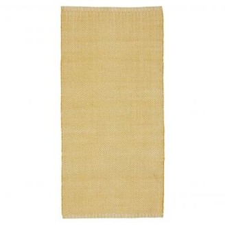 Liv Interior - 140 x 70cm Yellow Herringbone Outdoor Pet Rug