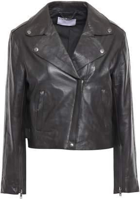 Muu Baa Muubaa Cropped Leather Biker Jacket