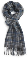 Nordstrom Men's Signature Plaid Cashmere Scarf