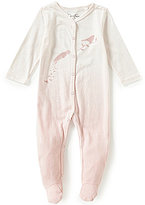 Jessica Simpson Baby Girls Newborn-9 Months Dip Dye Footed Coverall
