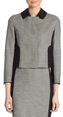 Akris Punto Houndstooth Panel Wool Jacket