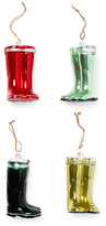 Garden Wellie Ornaments (Set of 4)