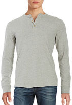 Black Brown 1826 Cotton Henley Shirt