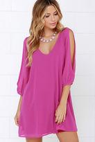 LuLu*s Shifting Dears Blush Pink Long Sleeve Dress