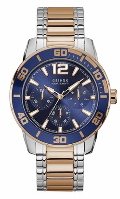 GUESS Men's Analog Quartz Watch with Stainless Steel Strap Two Tone 24 (Model: U1249G3)