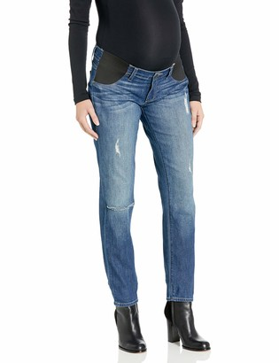 Paige Women's Maternity Jimmy Skinny with Elastic Insets in Tawni Destruction 24