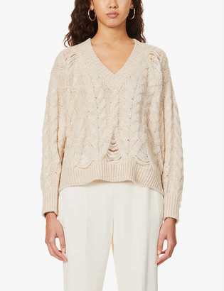 Stella McCartney Cable-knit alpaca-blend jumper