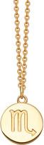 Astley Clarke Zodiac Scorpio biography 18ct yellow gold-plated pendant