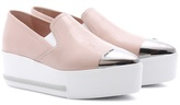 Miu Miu Leather platform loafers