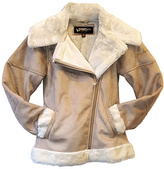 Hawke & Co Safari Shearling Faux Fur Lined Jacket - Girls