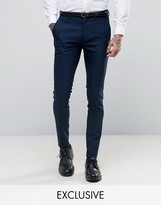 ONLY & SONS Super Skinny Suit Pants In Navy