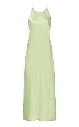 Rosetta Getty Bias Open-Back Satin Dress