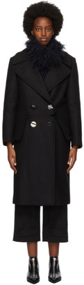 Stella McCartney Black Wool Cory Coat
