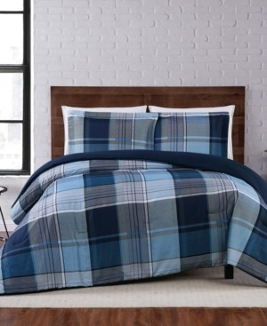 Truly Soft Trey Plaid King Comforter Set Bedding