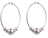 Eddie Borgo Large Sphere Hoop Earrings