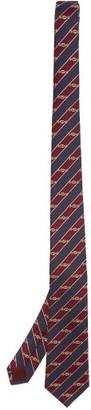 Gucci Horsebit-jacquard Silk Tie - Burgundy Multi