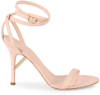 Cushnie Felix Ankle-Strap Suede Sandals
