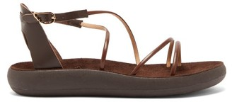 Ancient Greek Sandals Anastasia Comfort Leather Sandals - Dark Brown