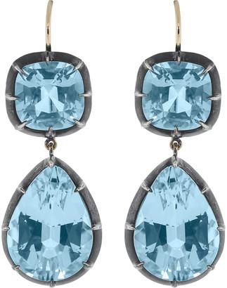 Fred Leighton Blue Topaz Drop Earrings