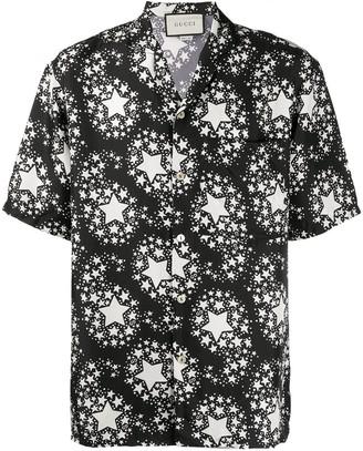 Gucci Star Print Silk Shirt