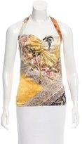 Roberto Cavalli Silk Printed Top w/ Tags