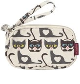 Bungalow 360 Bungalow360 Clutch Mini Coin Purse Wallet w/ Strap - Cats Print