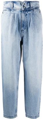 IRO High-Waisted Faded Jeans
