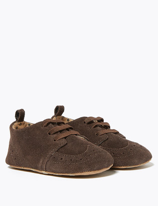 Marks and Spencer Baby Suede Brogue Shoes (0-12 Mths)