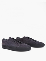 Common Projects Navy Suede Achilles Sneakers