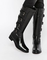 Ravel Multi Strap Knee High Leather Boots