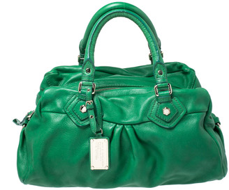 Marc by Marc Jacobs Green Leather Classic Q Groove Shoulder Bag