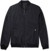 Ermenegildo Zegna - Leather-trimmed Trofeo Wool Bomber Jacket