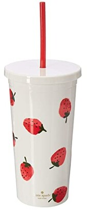 Kate Spade Strawberries Tumbler with Straw
