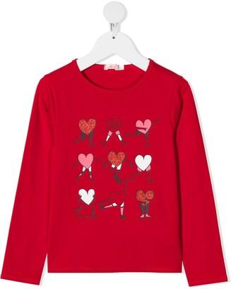 Billieblush heart-print T-shirt