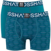 Crosshatch Men's 2 Pack Syntho Boxer Shorts - Deep Lake