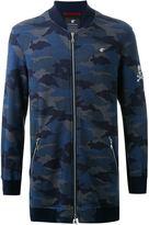 Loveless - camouflage bomber-style sweatshirt - men - Cotton - 1