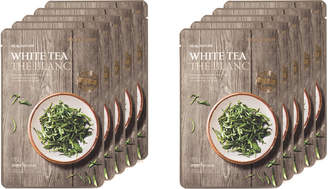 The Face Shop Real Nature White Tea Face Mask Uv Protection 10Pk