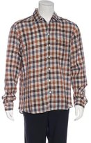 Lorenzini Plaid Linen Shirt