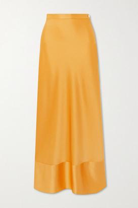 PARIS GEORGIA Isla Satin Maxi Skirt - Mustard
