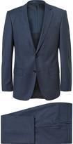 Hugo Boss - Navy Slim-fit Wool Three-piece Suit
