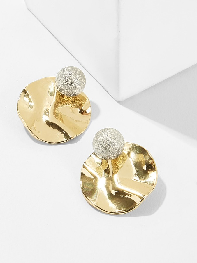 d4948bbfd Hammered Gold Stud Earrings For Women - ShopStyle