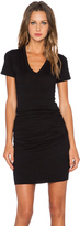 Monrow Permanent Collection V Neck Dress